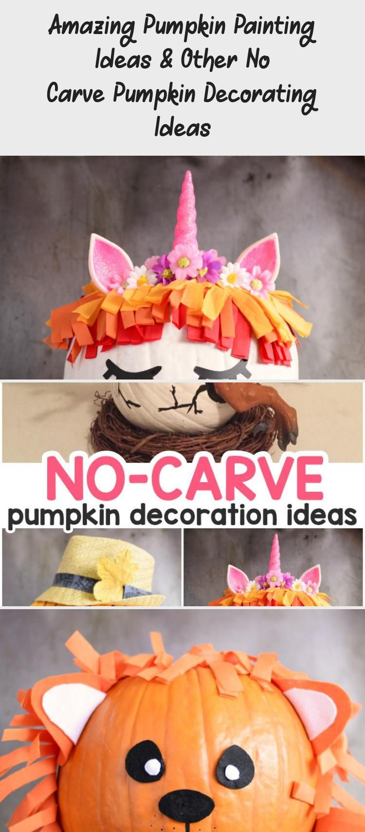 Amazing Pumpkin Painting Ideas & Other No Carve Pumpkin Decorating Ideas #paintingideasSunflowers #paintingideasOnPaper #paintingideasOnCanvas #Trippypaintingideas #Fabricpaintingideas #pumpkinpaintingideas