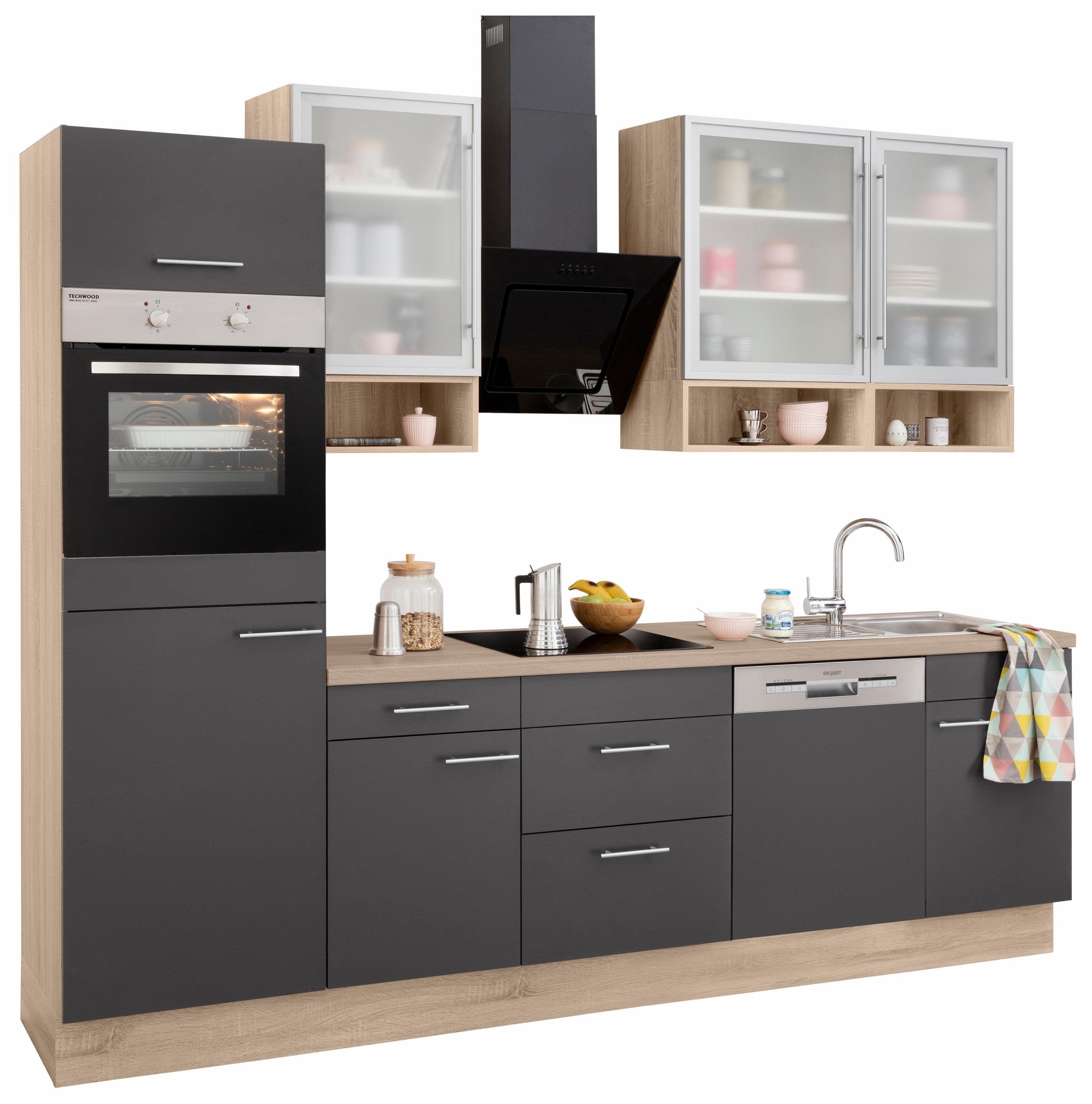 OPTIFIT Küchenzeile ohne E-Geräte »Aue« rot, mit Schubkästen Jetzt ...