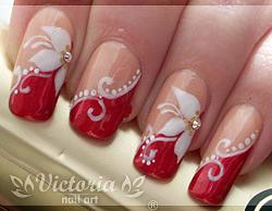 50+ Nail art bianco e rosso trends