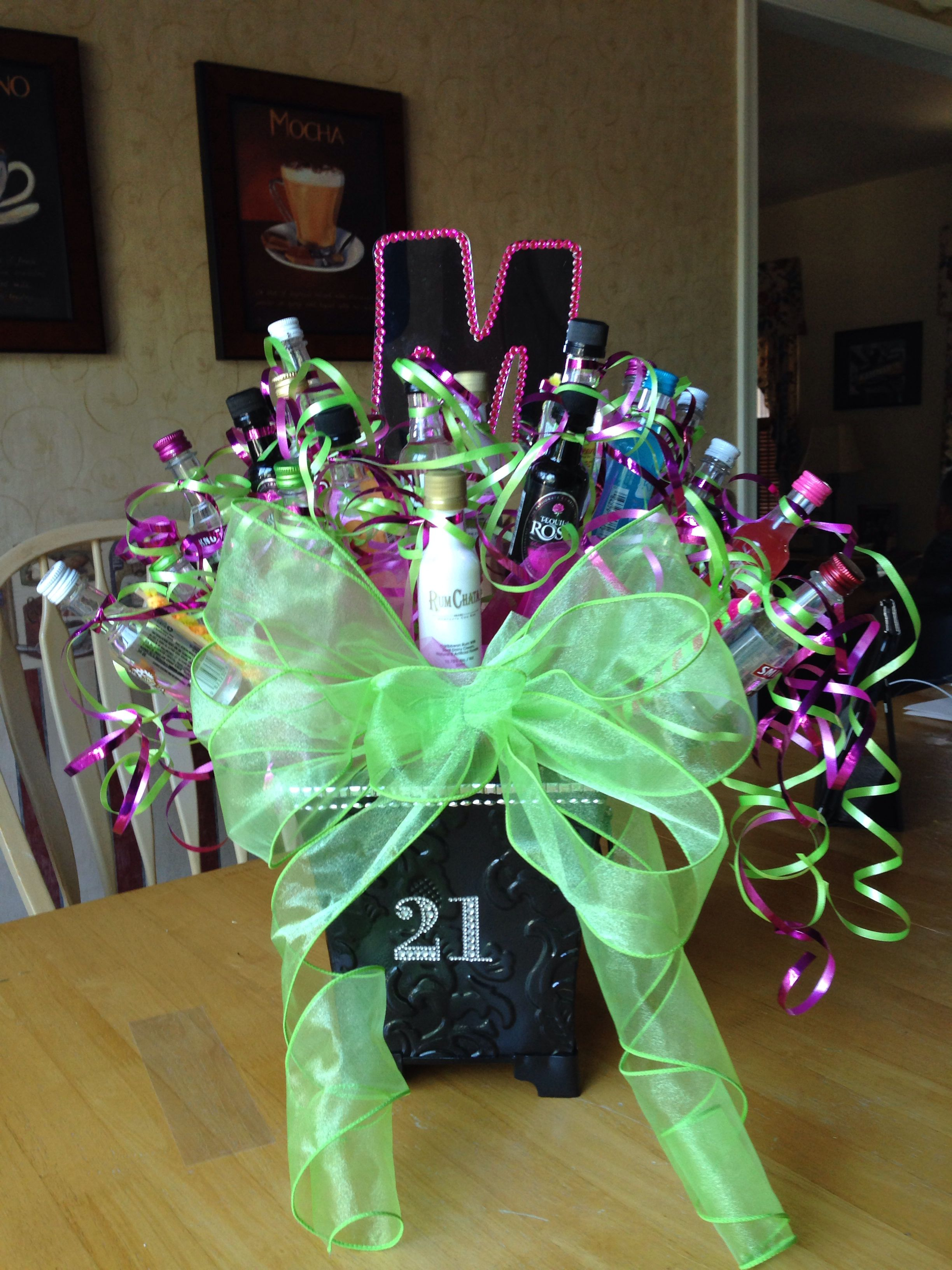 21st Birthday Liquor Bouquet Created For Megan Liquor Bouquet 21st Birthday Gifts Liquor Gifts