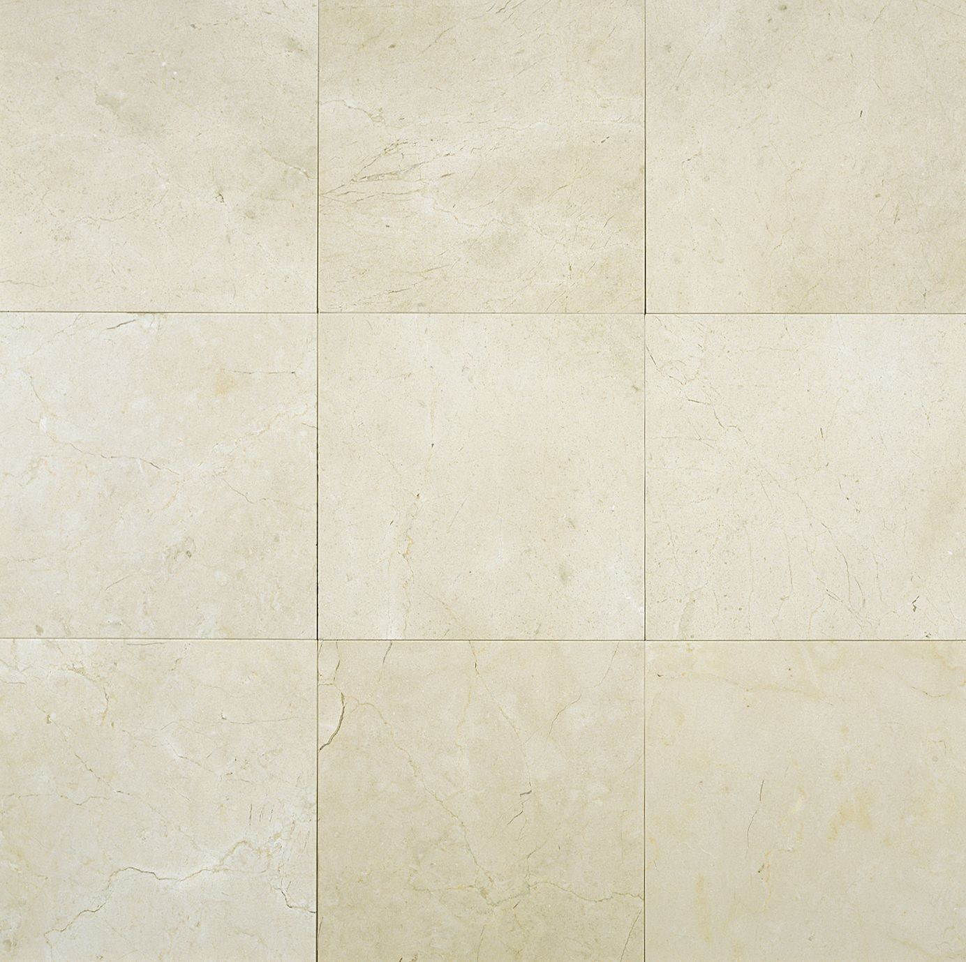 Crema Marfil Classico 6x6 Marble Tile Polished Transitional Guest Bat