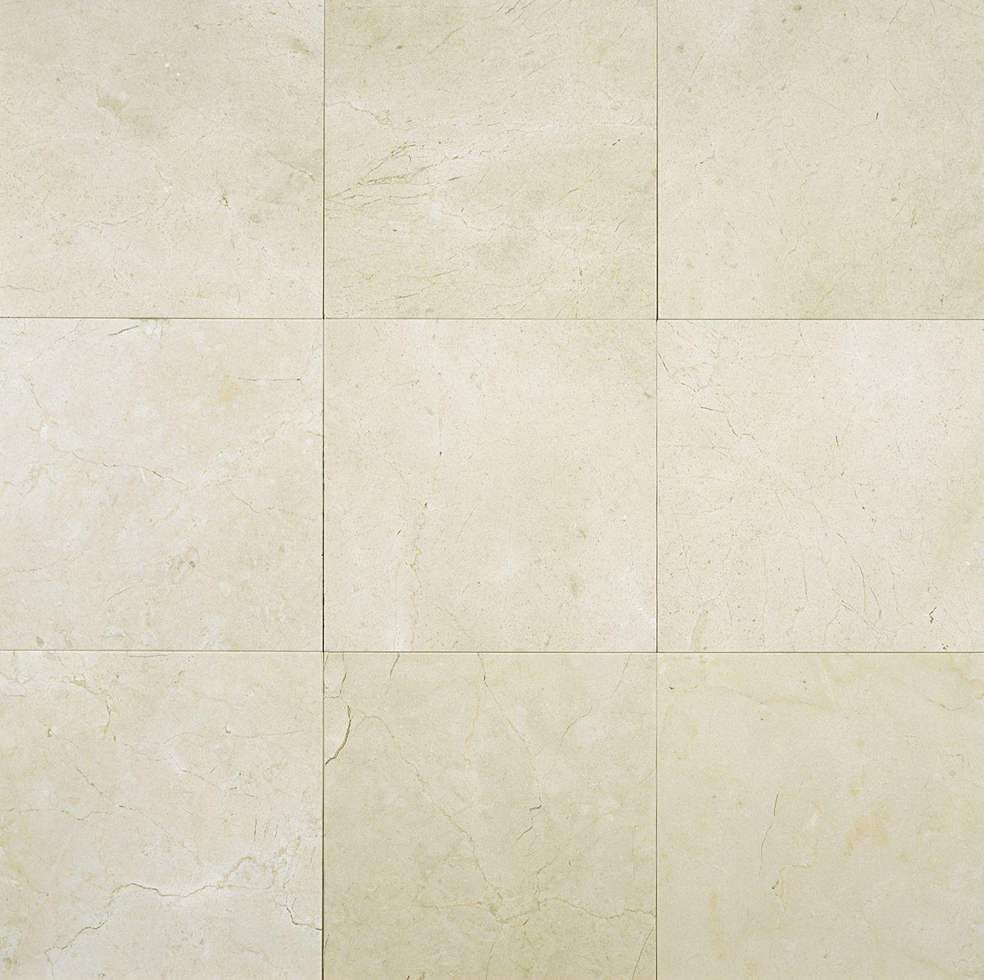 crema marfil marble 6x6 tile polished