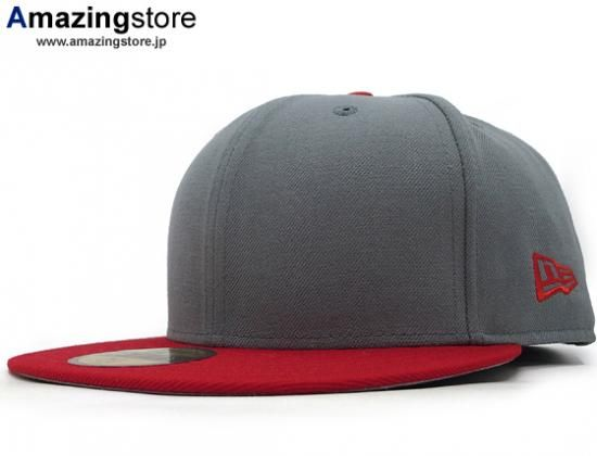 Blank Red-Grey Grey-Red 59Fifty Fitted Baseball Cap by NEW ERA ... d83fb05da367