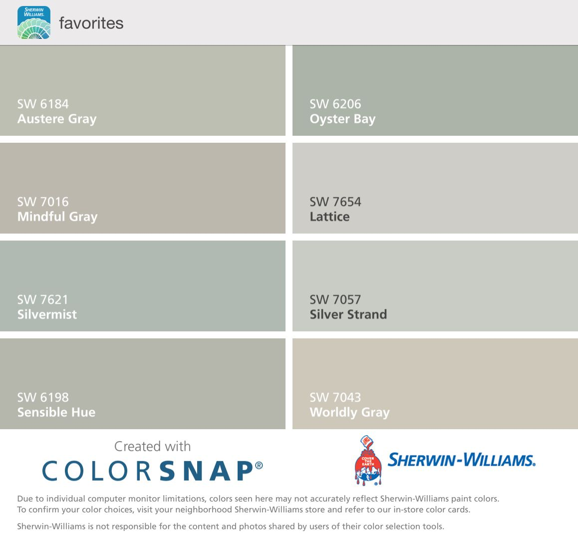 sherwin williams austere gray oyster bay mindful gray. Black Bedroom Furniture Sets. Home Design Ideas