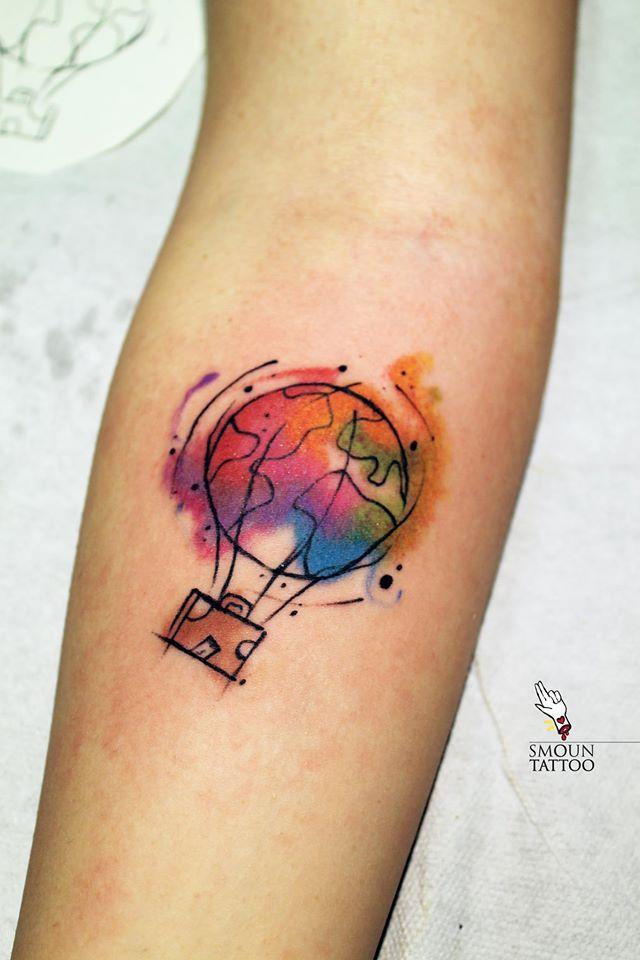 63 crazily stylish travel tattoos ideas to inspire the wanderlust within you tatouages - Tatouage theme voyage ...