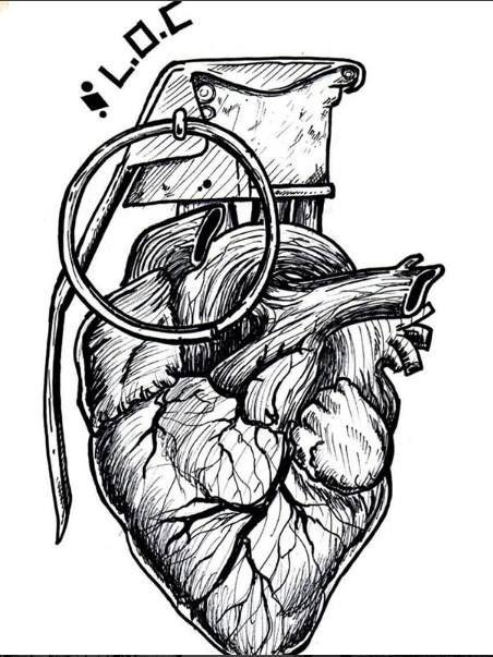 Heart Grenade Tatuagem Granada Desenhos Para Tatuagem E