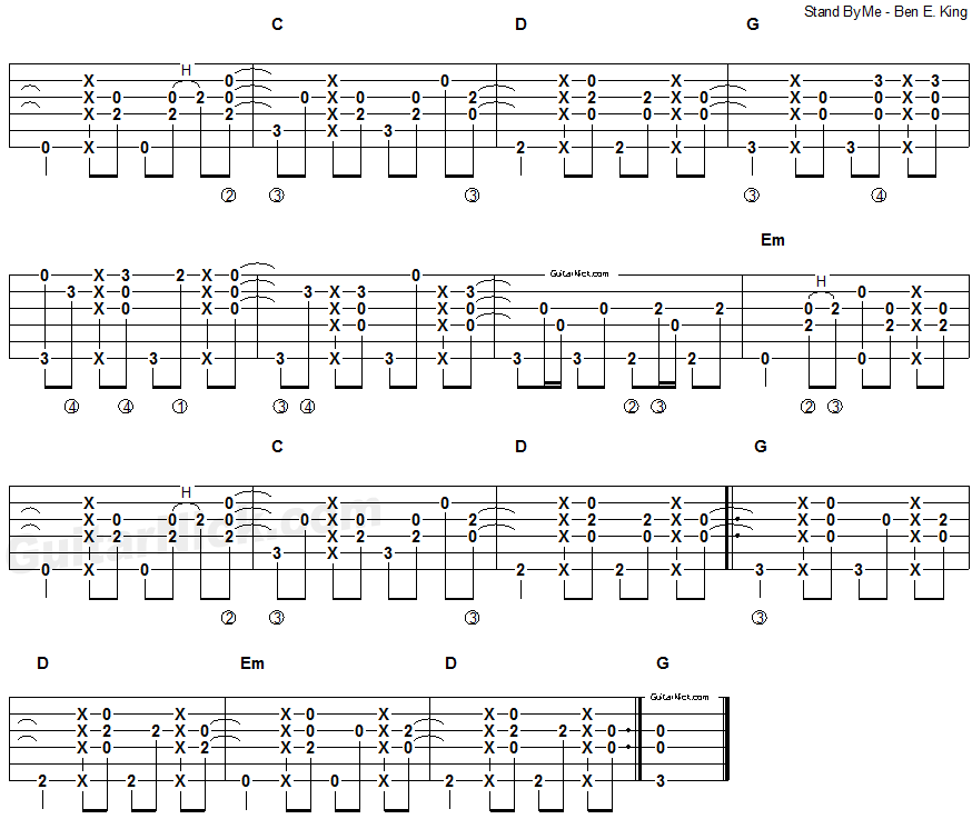 stand by me fingerstyle guitar tablature 2 music sheet in 2019 fingerstyle guitar. Black Bedroom Furniture Sets. Home Design Ideas