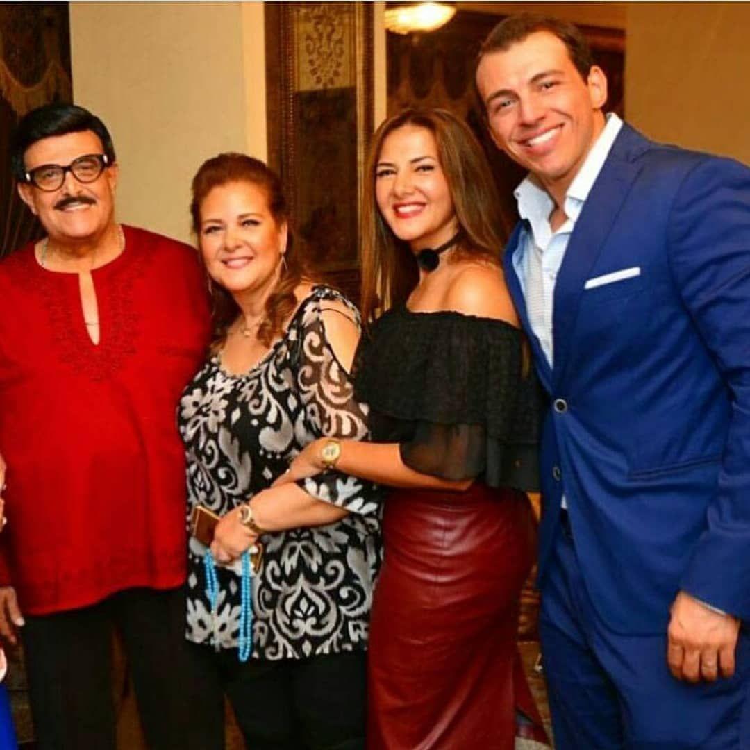 دنيا سمير غانم مع زوجها الإعلامى رامى ووالديها إنستجرام النجوم
