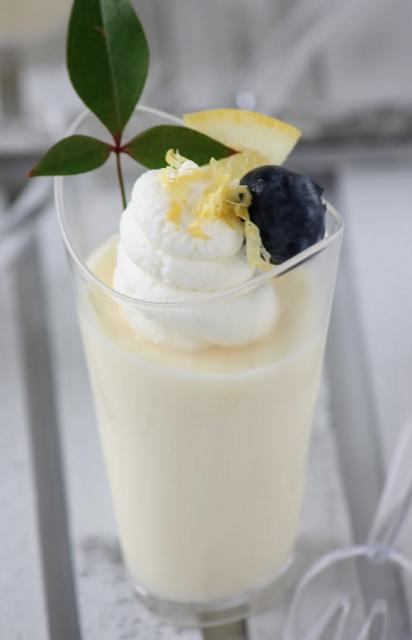 This sounds light & yummy.  Lemon Posset with Lemon Pistachio Shortbread