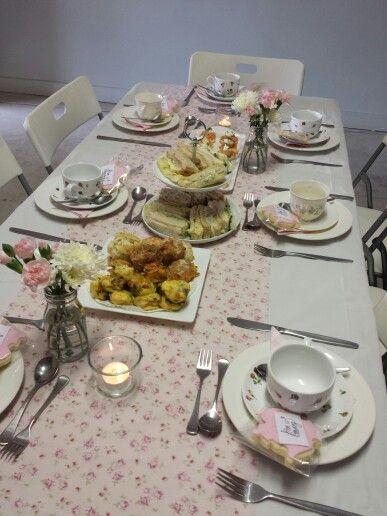 Kitchen Tea table setting | Kitchen Tea | Pinterest