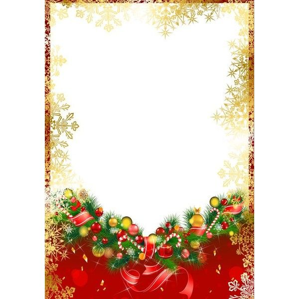 Red Christmas PNG Frame With Gold Snowflakes Liked On Polyvore Featuring Home Decor Holiday Decorations