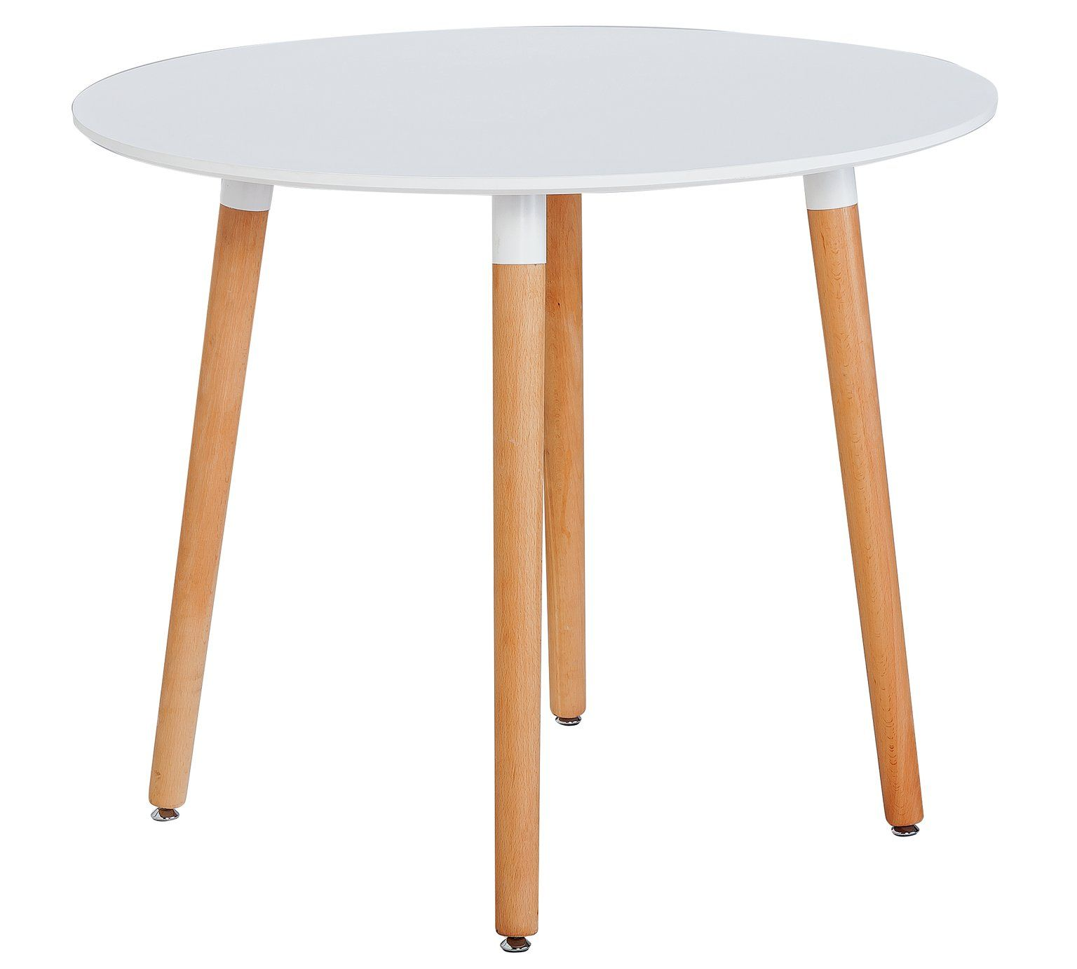 Hygena Charlie Round Solid Beech 4 Seat Dining Table White At Argos Co