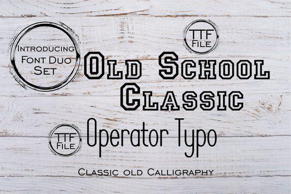 Fonts Set Digital Font Modern Calligraphy Old School Font