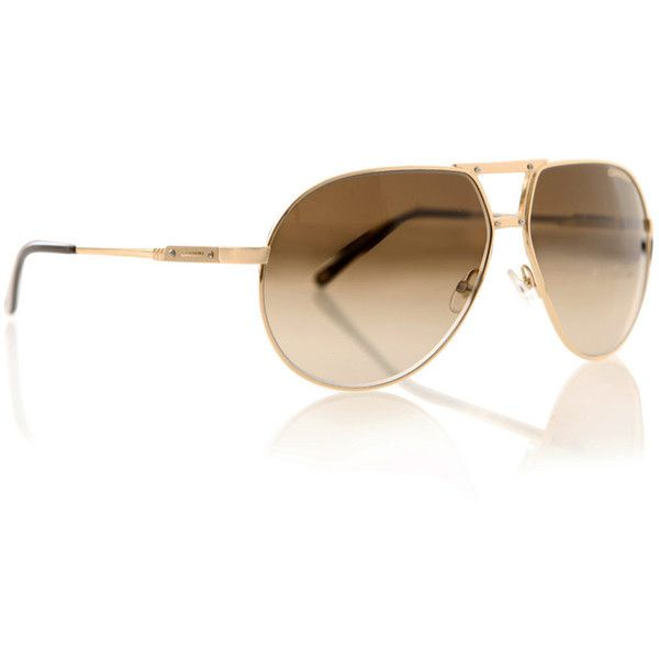 Carrera Gold-metal aviator sunglasses (265 BRL) ❤ liked on Polyvore ...