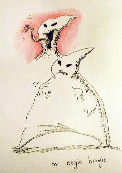 Tim Burton's renderings for Oogie Boogie.(Nightmare before ...
