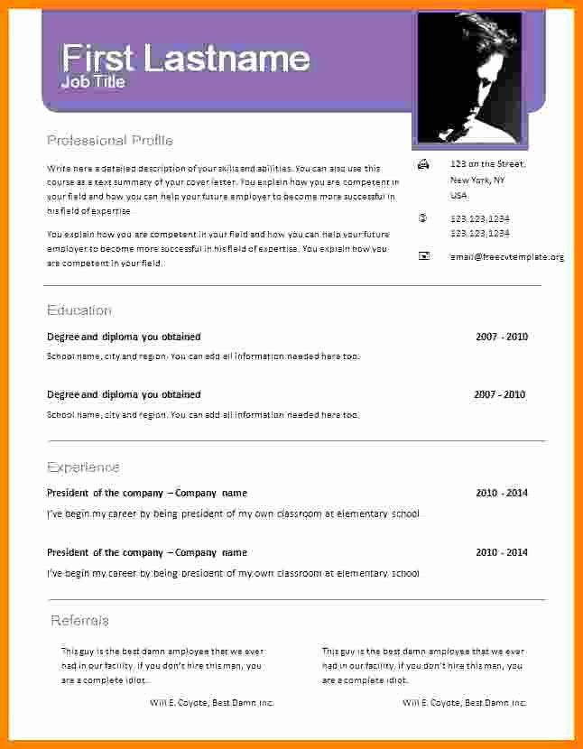 Downloadable Resume Templates Word Unique 6 Cv Format Word Document Resume Template Examples Downloadable Resume Template Job Resume Template