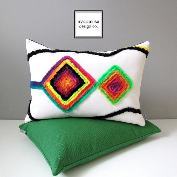 colorful outdoor pillow cover decorative boho pillow case modern