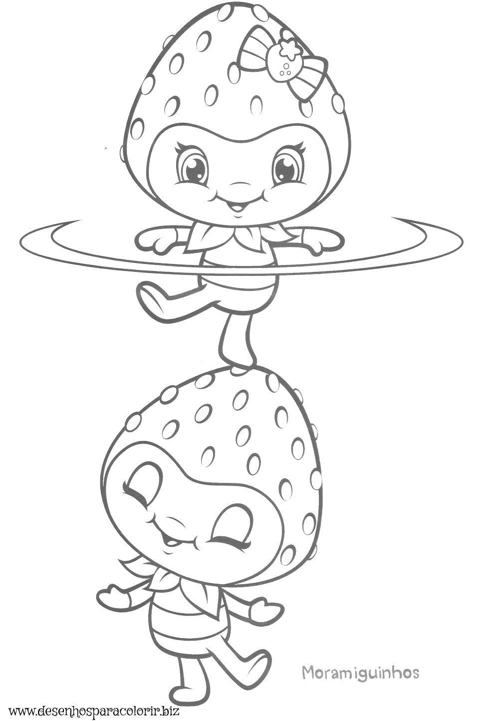Aqui no site temos vários desenhos da Moranguinho para colorir ...