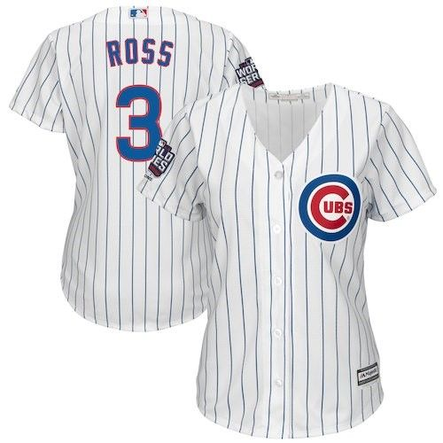 new concept 88a91 f5b69 Chicago Cubs Majestic David Ross Women's 2016 World Series ...
