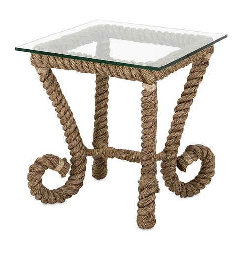 Introducing The Tranquil Rope Accent Table With Its 39 Nautical