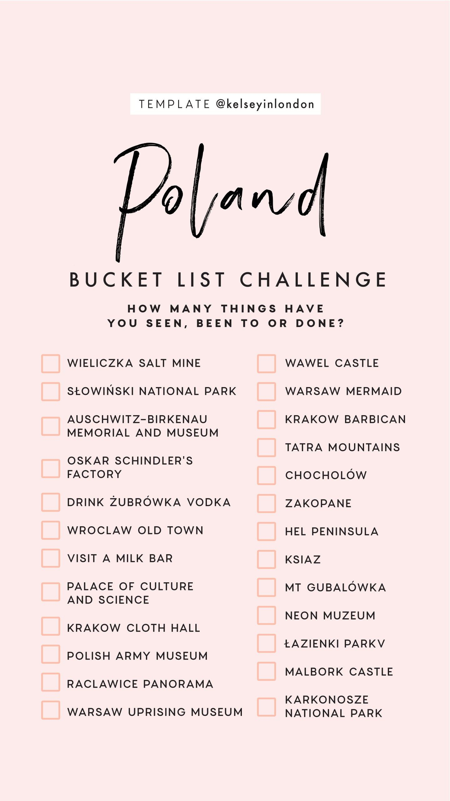 top things to do in poland - poland bucketlist