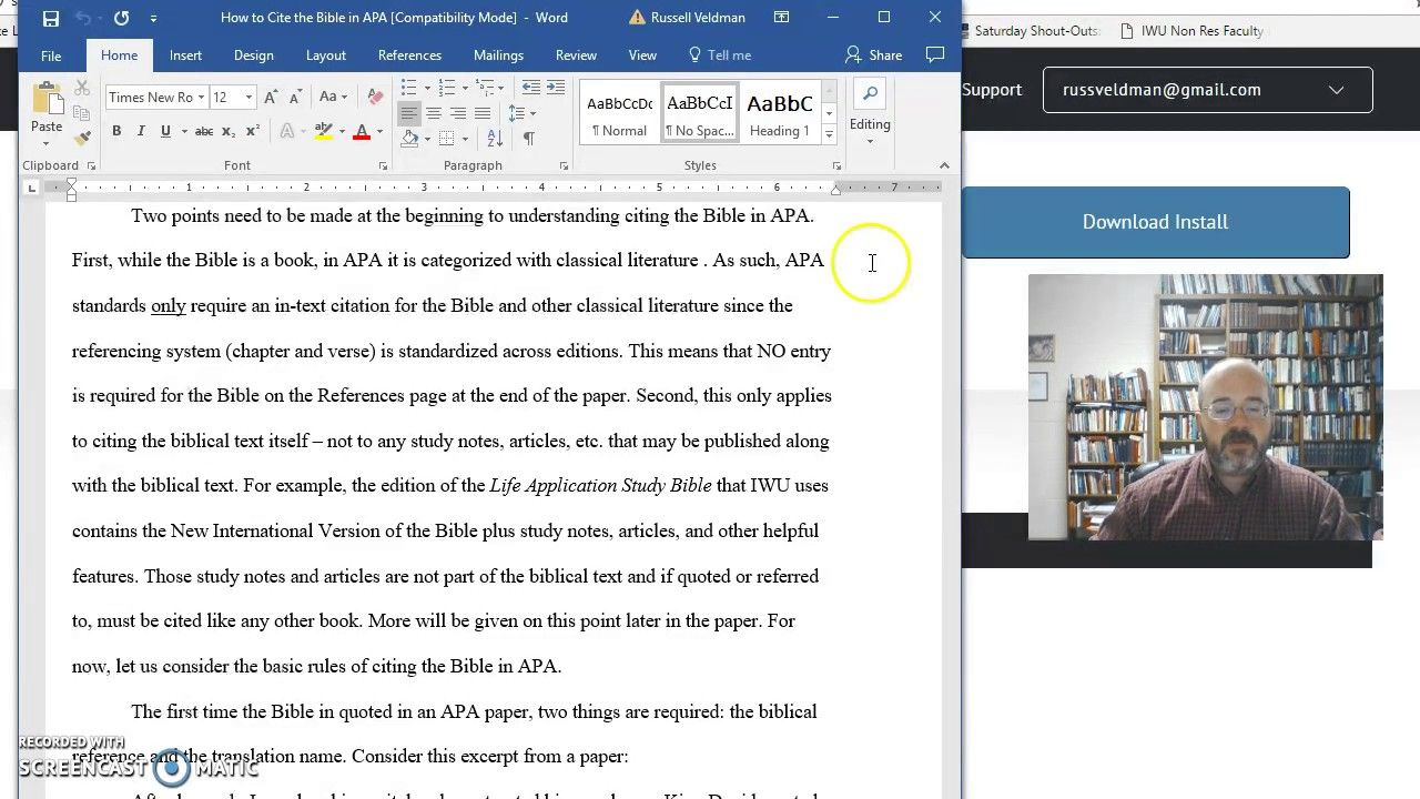 How To Cite The Bible In Apa Recording 6 Understanding The Bible Bible Apa