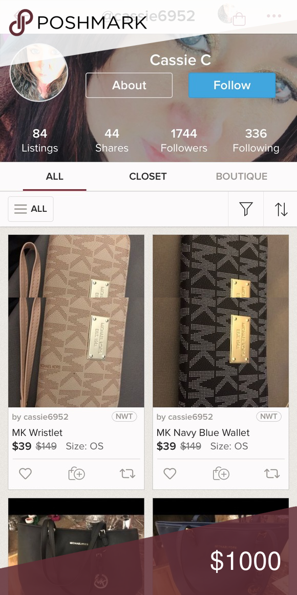 127220cec327b BEWARE!!! Beware! She s selling some fake Michael Kors handbags wallets!  She s on M e r c a r i as well! I ve called her out on it   all she did was  block ...