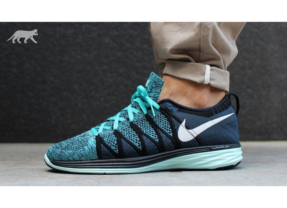 Nike Flyknit Lunar 2 Black Sport Turquoise
