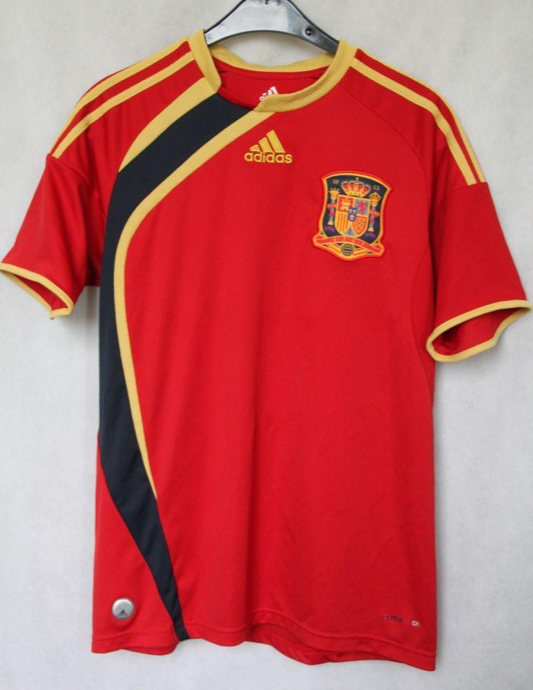 549e83145 Spain National Football Team 2009 2010 Jersey Shirt sz 176 Small Adidas  (134)  Adidas  Spain