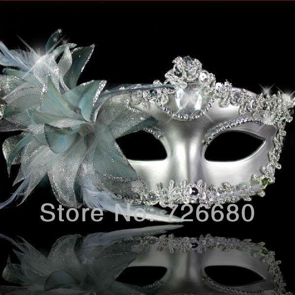 Silver Charming Princess Laser Cut Venetian Masquerade Prom Dance Party Mask