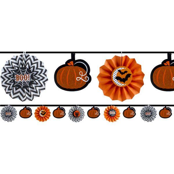 Glitter Fan Garland - 36m Halloween Decoration Halloween Idea - asda halloween decorations