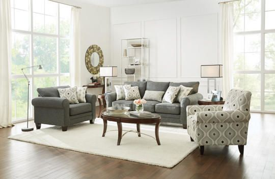 Capri Charcoal Queen Sleeper Sofa Color Inspiration