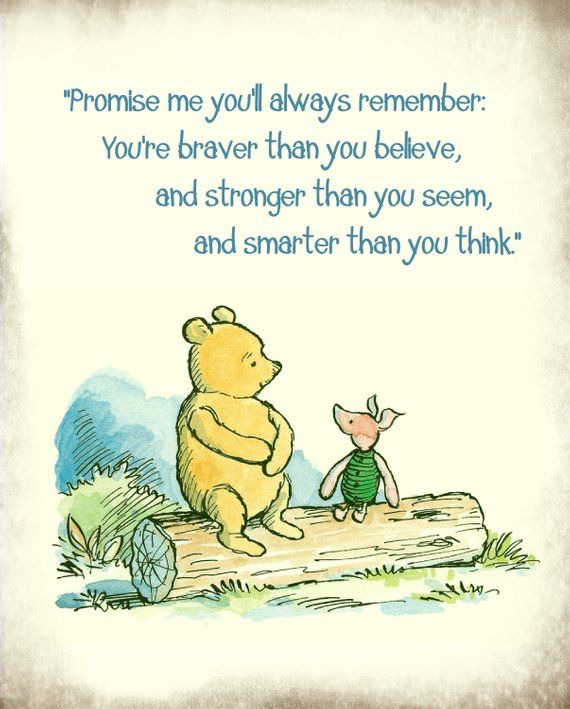 Classic Winnie the pooh art print featuring Pooh and Piglet sitting on a log with a favorite Pooh quote above in teal. The edges have been distressed to give this design a vintage feel. Size: 8x10 11x14 (make size selection at checkout) All Art Prints are saved at 300 dpi to ensure a clear crisp