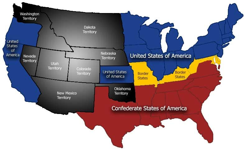 Secede States Dr Darron Smith Seceded States Of America And - Map Of The Us In The Civil War