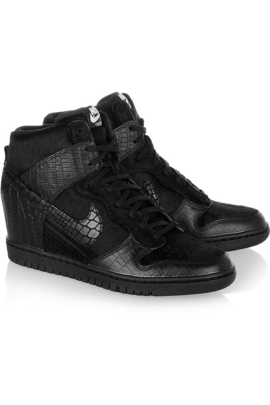 Nike + Leather Undercover Dunk Sky Hi Leather + And Faux Calf Hair Chaussuress 242905