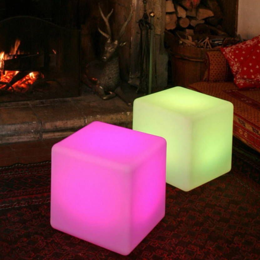 Colour changing outdoor light cube lights garden projects and gardens colour changing outdoor light cube aloadofball Images