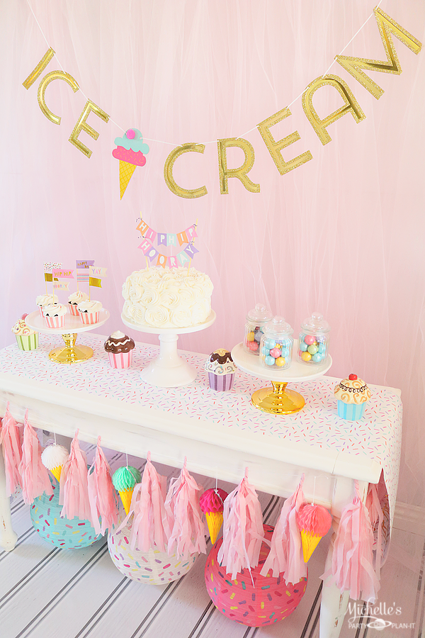 ice cream party decor ice cream cake smash Ice cream birthday highchair banner,ice cream highchair banner ice cream social party