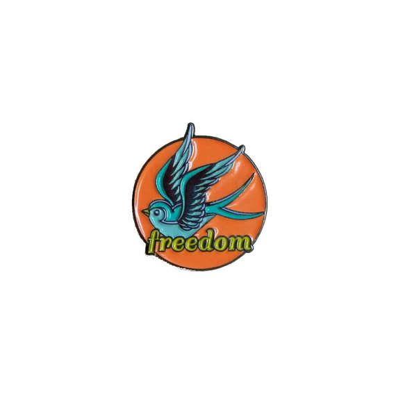 SALE *** Freedom Swallow Enamel Pin / Lapel Pin / Pin Badge
