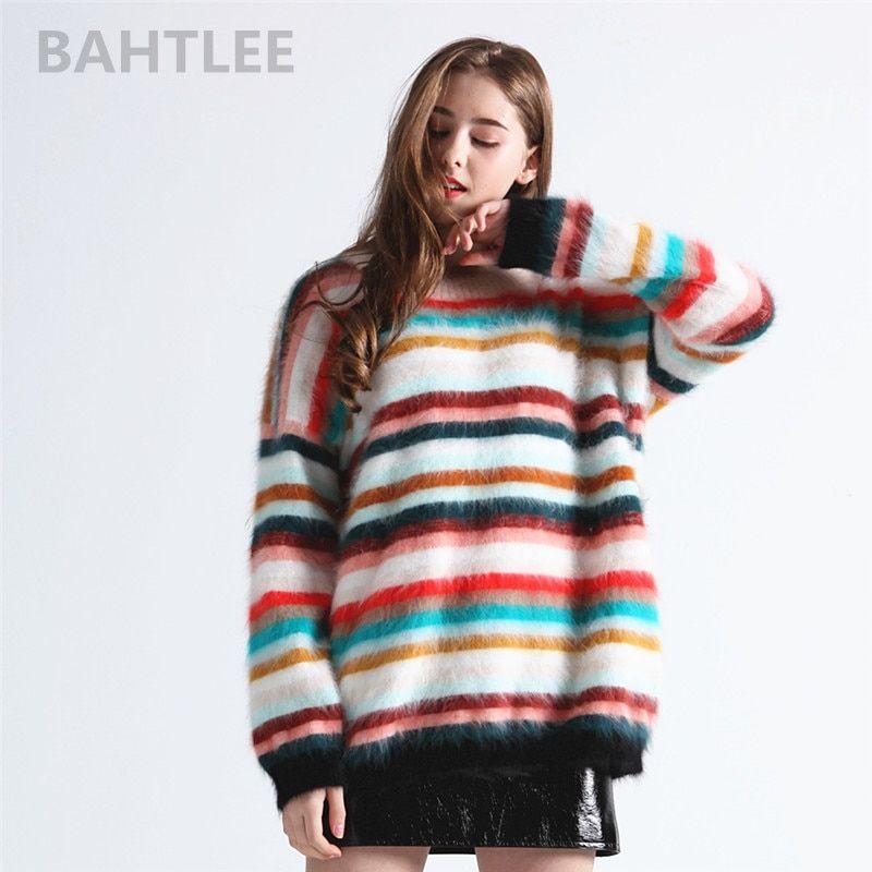 BAHTLEE 2018 Autumn winter women's angora rabbit knitted