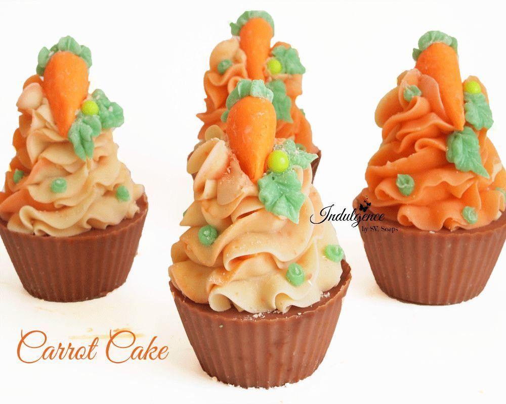 Carrot Cake Handmade Artisan Vegan Soap Cupcake