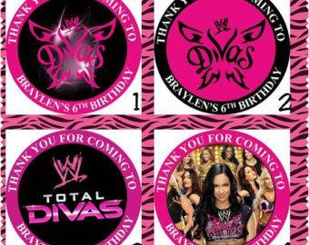 wwe divas party Etsy WWE Divas birthday party Pinterest