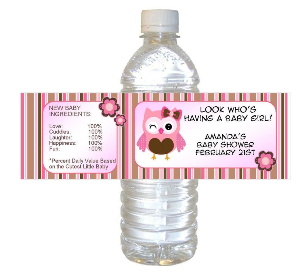 25 Beautiful Water Bottle Baby Shower Ideas Water Bottle Labels