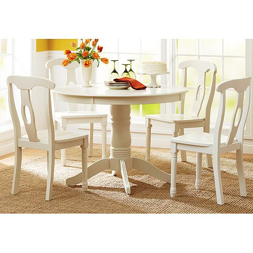 Kitchen Small Coastal Ideas Better Homes And Gardens: Better Homes And Gardens 5-Piece Pedestal White Dining Set
