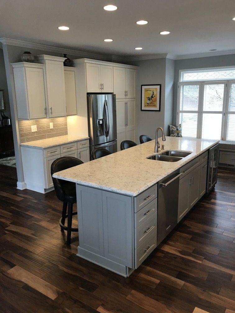 Remodel Kitchen Perimeter Cabinets Are Homecrest Sedona Maple