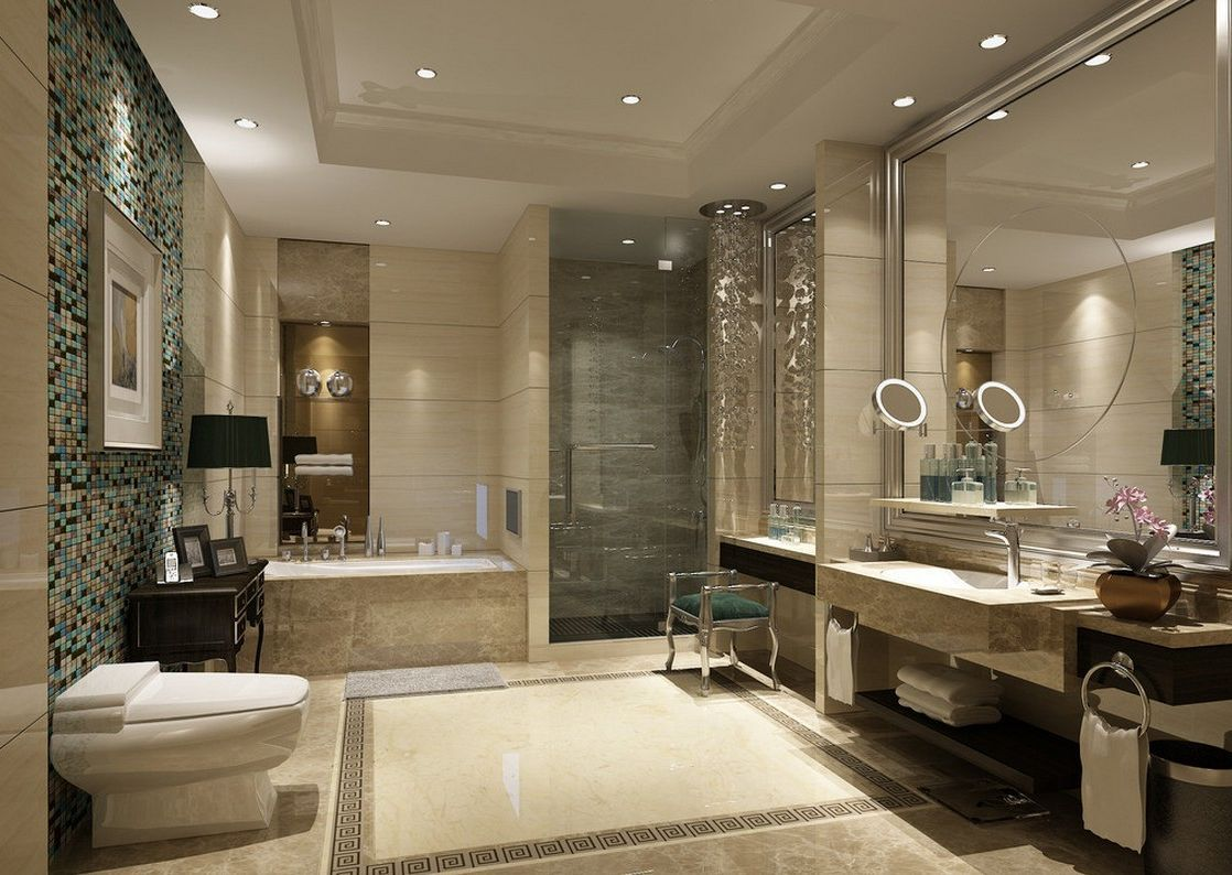 Attractive Bathroom With Modern Classic Idea And Luxury Look Jpg