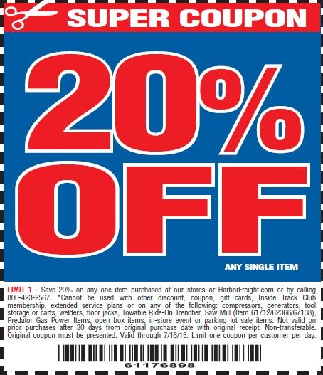 free harbor freight coupons october 2019