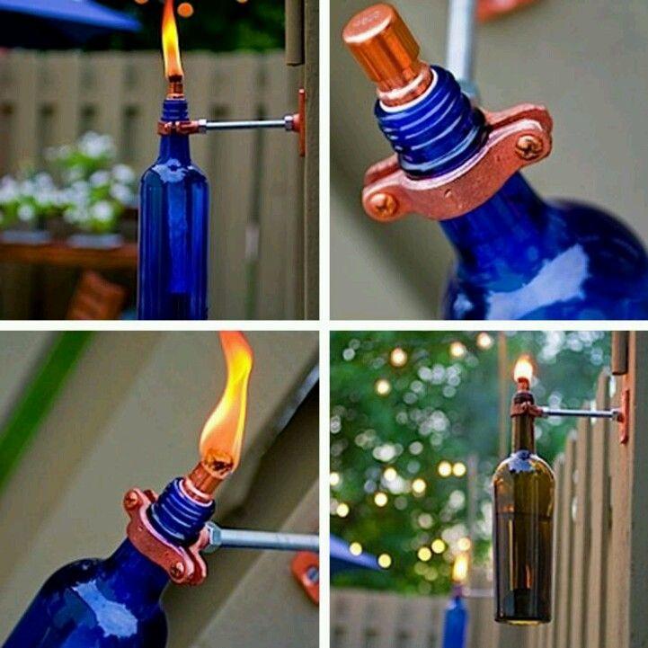 Antorcha para jard n innovaciones creativas pinterest for Antorchas jardin