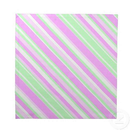 Cotton Candy Striped Cloth Napkin