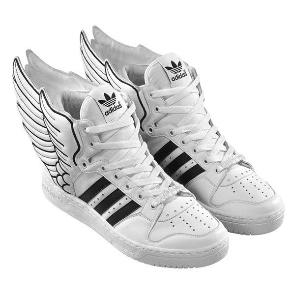 brand new 4bff4 90e9a Lil Wayne in Adidas by Jeremy Scott JS Wings 2.0 Sneaker UpscaleHype ❤  liked on Polyvore featuring shoes, sneakers, обувь, adidas footwear,  adidas, ...