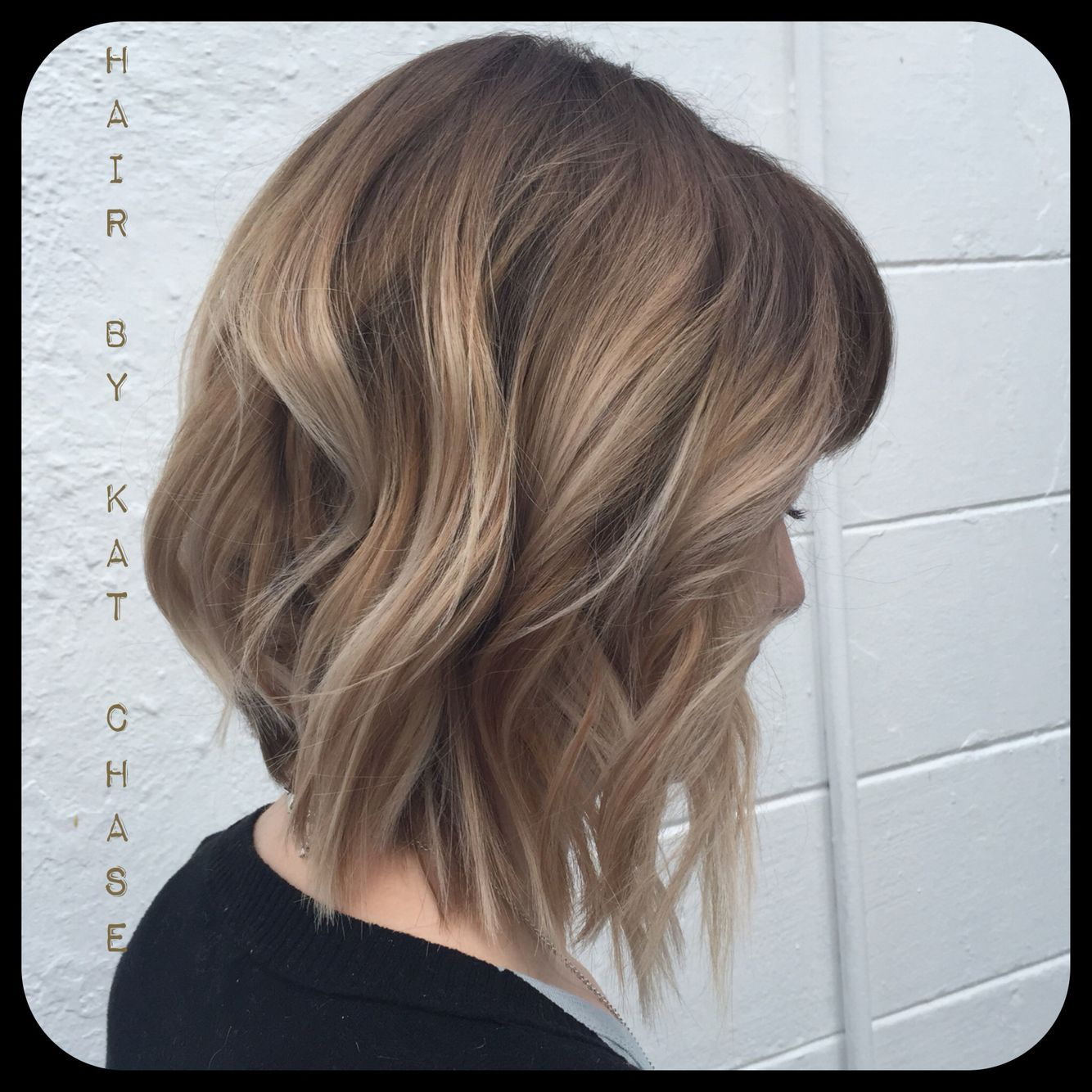 Ash Blonde Ombre On Short Hair
